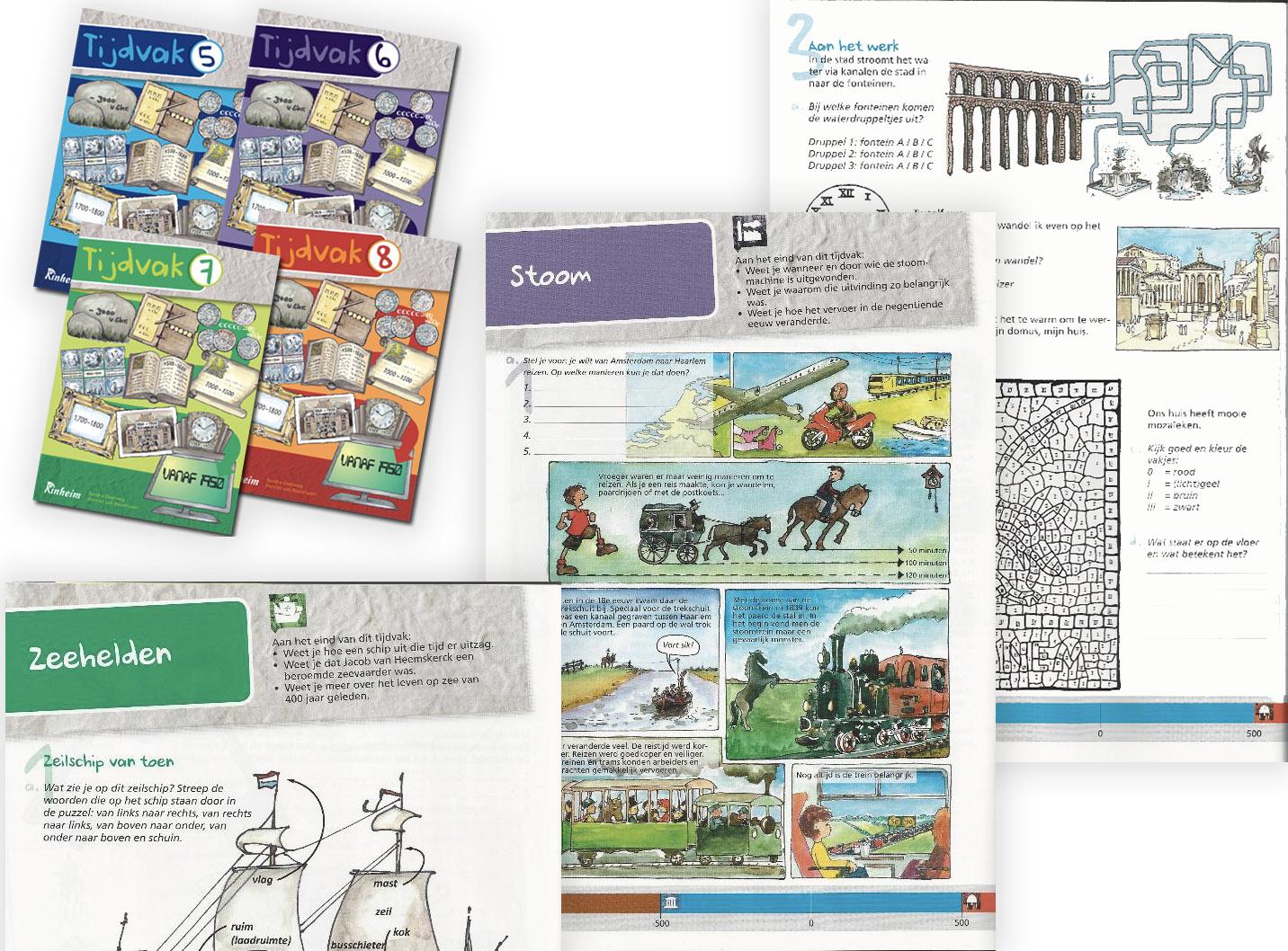 Educatieve werkboeken over geschiedenis